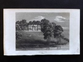 Beauties of England & Wales C1810 Antique Print. Ingress Park, Kent
